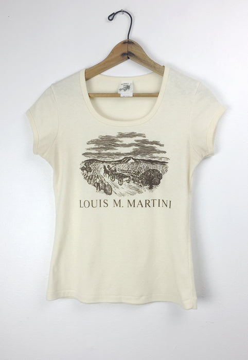 Vintage 70's Napa Valley Vineyard Louis M. Martini Winery Souvenir Graphic T Shirt