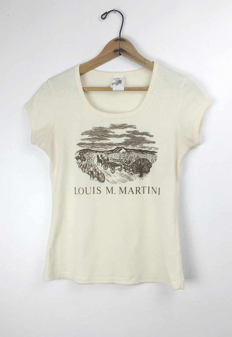 Vintage 70's 'Louis M. Martini' Napa Valley Winery Tee