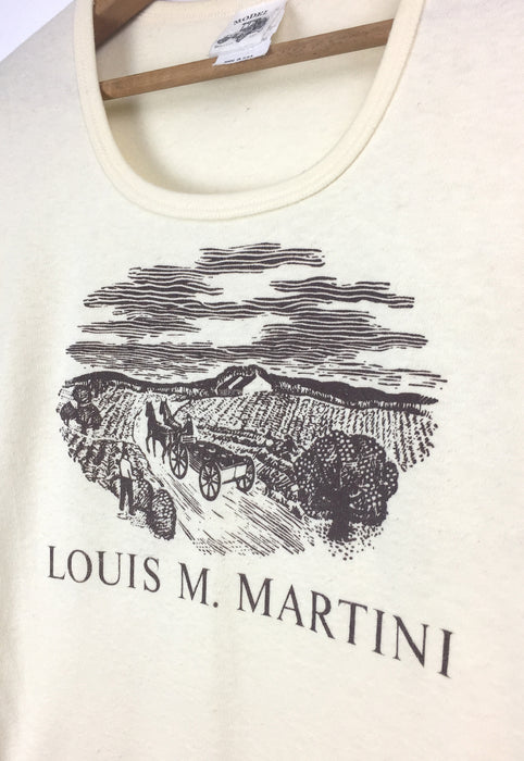 Vintage 1970's Napa Valley Vineyard Louis M. Martini Winery Souvenir Graphic T Shirt