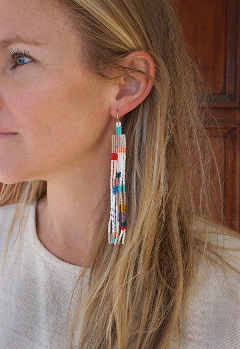 BriBol Beaded Maysie Statement Modern Art Earrings Idylwild