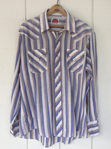 Paper Thin, Pearl Snap Miller Western Shirt XL