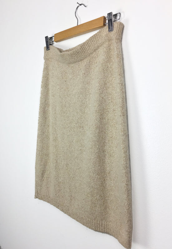 Vintage Silk Angora Oatmeal Sweater Skirt