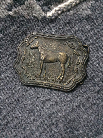 Vintage 'Quarter Horse' Belt Buckle