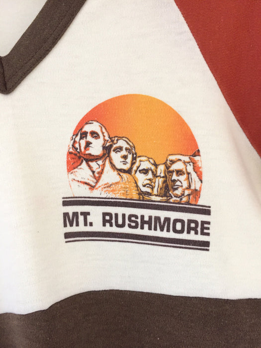 Vintage 1970's Mt. Rushmore Tri Color Tee
