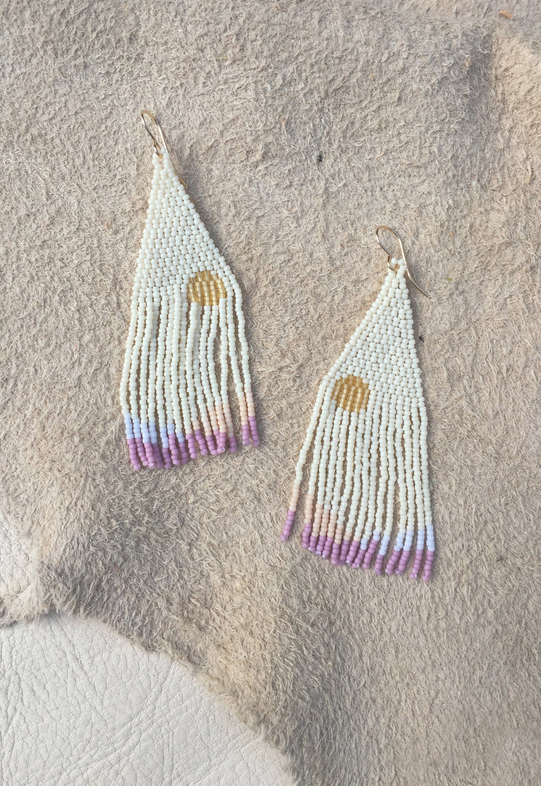 Sagebrush Handwoven Beaded Earrings