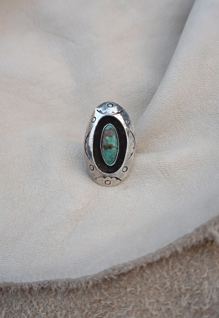Turquoise Shadowbox Native American Ring