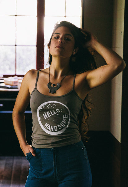 """Hello, Handsome"" Suede Colored Tank"