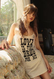 """Love Is The Drug"" Tank Dress"