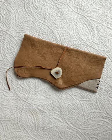 Taupe & Tan 'Antler' Wallet/ Clutch