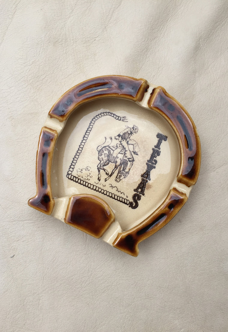 Vintage Texas Horseshoe Ashtray