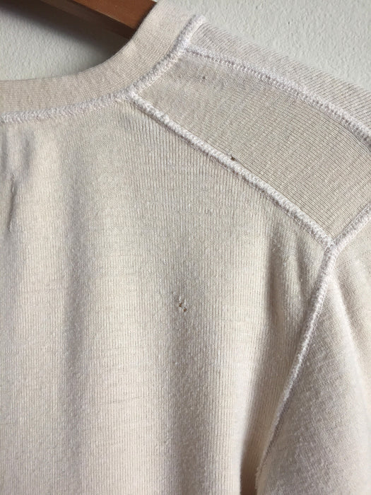 Vintage 1970's US Army Cotton Wool Henley Long Sleeve Shirt