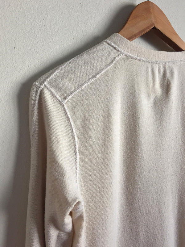 Vintage 70's US Army Cotton Wool Henley Long Sleeve Shirt