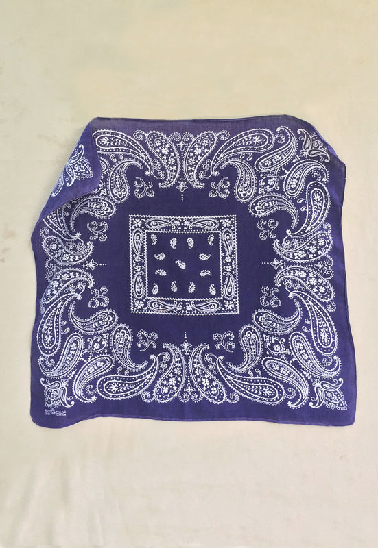Idylwild Vintage Blue 1950s Trunk Up Bandana