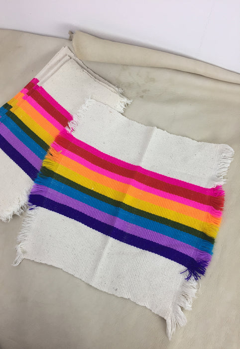 Woven Rainbow Set of 6 Cloth Napkins