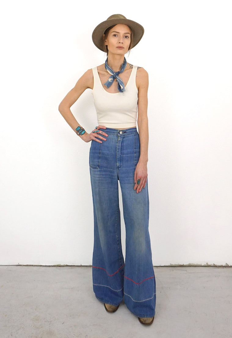 Sharon Kettering's Wide Leg Medium Blue Ultra High Rise Vintage Jeans