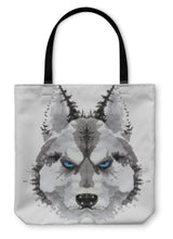 Load image into Gallery viewer, Tote Bag, Husky Dog Painted Watercolor Illustration