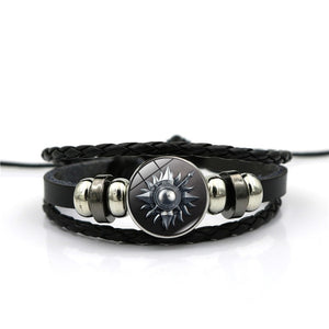 Wolf Glass Leather Bracelets