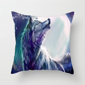 Animal Painting Cushion Cover