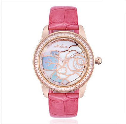 Melissa Romantic Elegant 3D Flower Watch