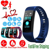 Sports Fitness Activity Heart Rate Tracker Blood Pressure wristband IP67 Waterproof