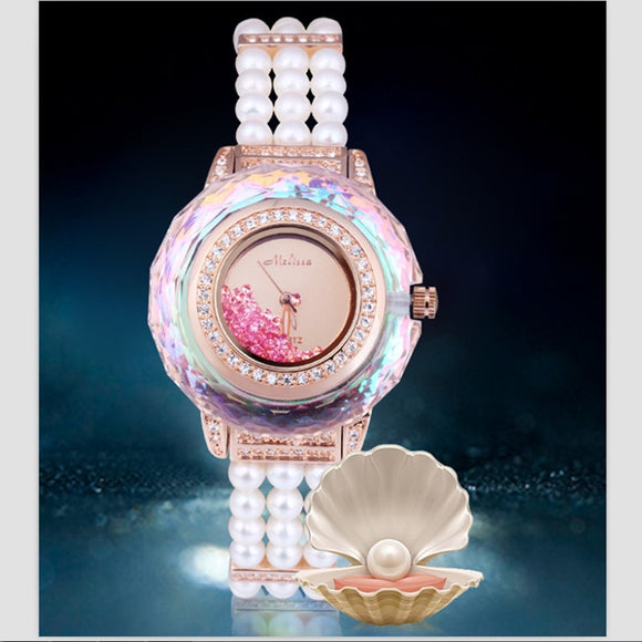 Melissa Gorgeous Jewelry Watch Elegant Pearls
