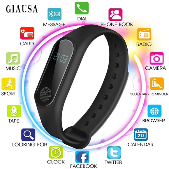 Sport Bracelet Smart Watch Men Women  For Android IOS Fitness Tracker