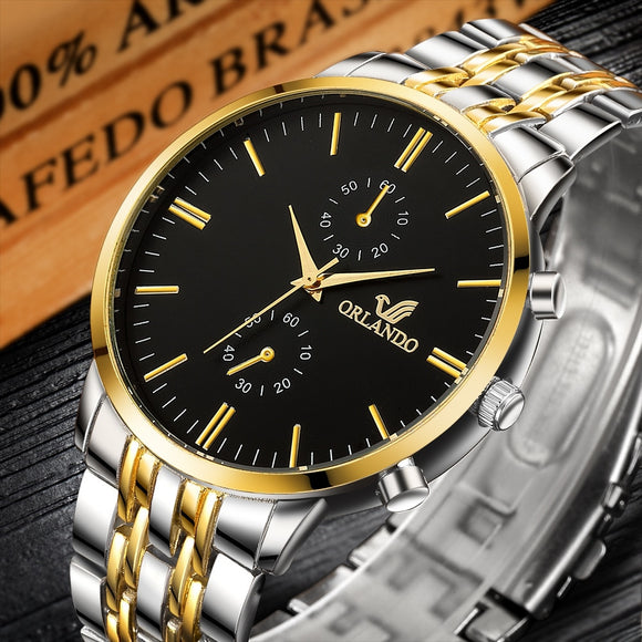 2019 Luxury Brand Orlando Mens Quartz Watch