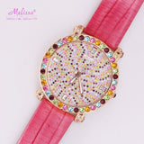 Melissa Big Hour Quartz Leather Bracelet