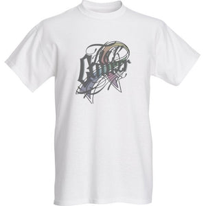 FU#K CANCER CLOTHING- SCRIPT LOGO RIBBON WHITE TEE