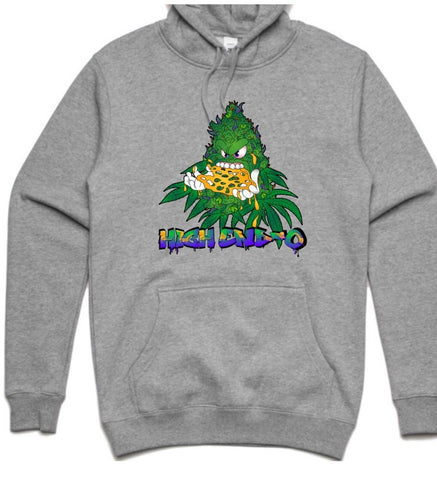 HIGHEND-O CLOTHING - BUDDY THE SLAB SLAYER HOODIE GREY