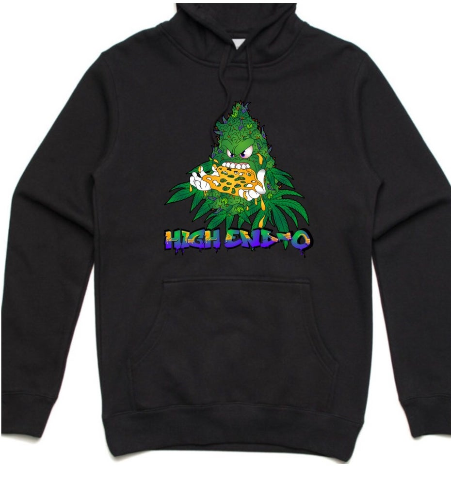 HIGHEND-O CLOTHING - BUDDY THE SLAB SLAYER HOODIE BLACK