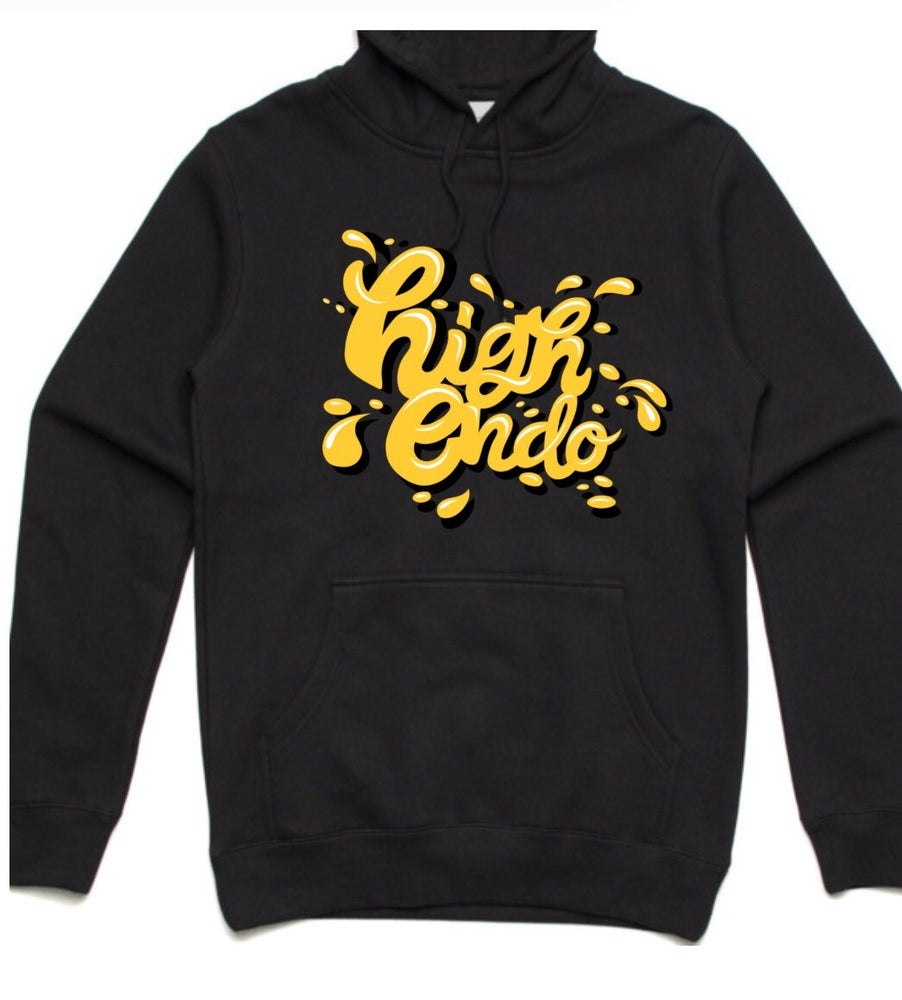 HIGHEND-O CLOTHING - DAB LOGO HOODIE BLACK