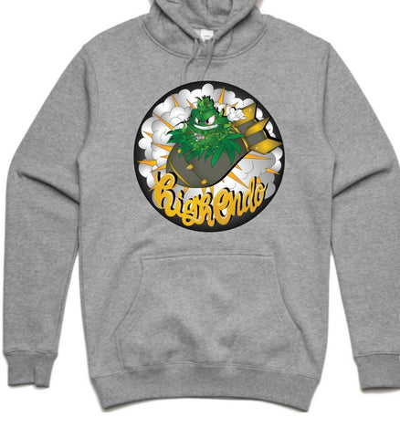 HIGHEND-O CLOTHING - BUD BOMB HOODIE GREY