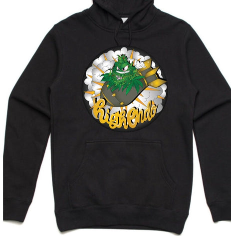 HIGHEND-O CLOTHING - BUD BOMB HOODIE BLACK