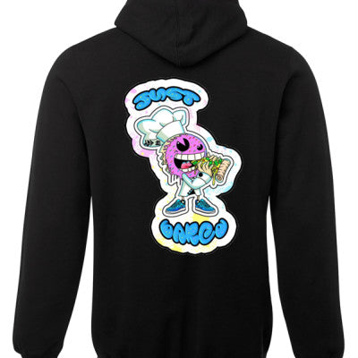 JUST BAKED - BAKED CARTOON HOODIE BLACK