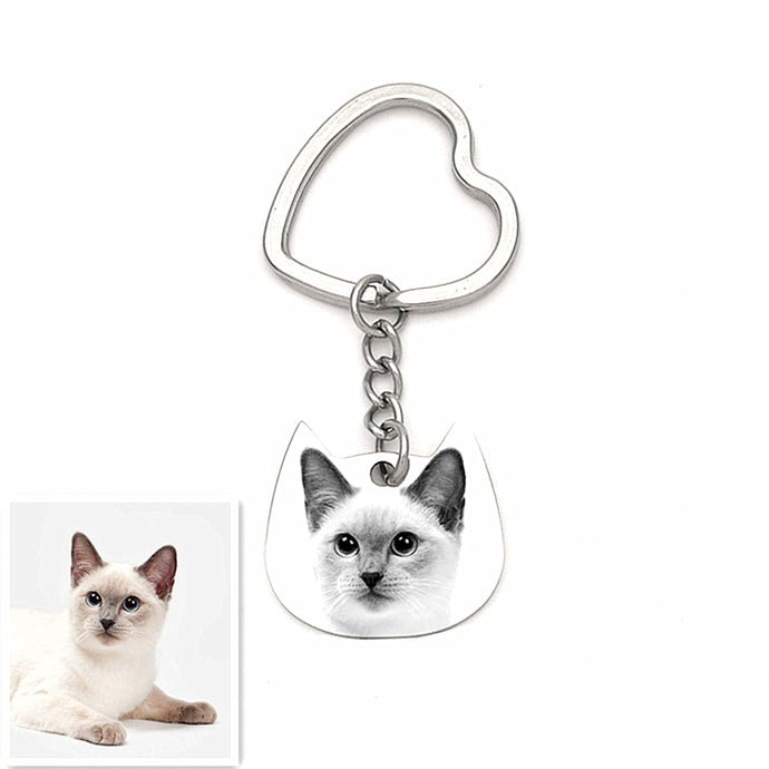 CustomizeYou Personalized Cat Keychain