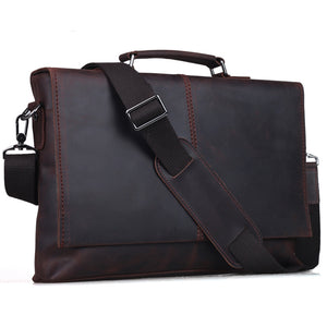 TIDING Man Bag Genuine Leather Briefcase For Notebook 13""
