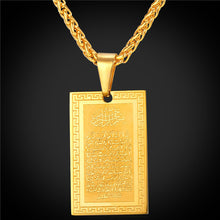 Collare Allah Necklaces & Pendants Gold Color Stainless Steel Muslim Islamic