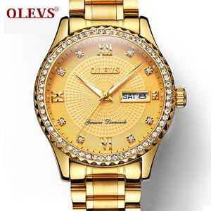OLEVS Luxury Gold Diamond Men Watches