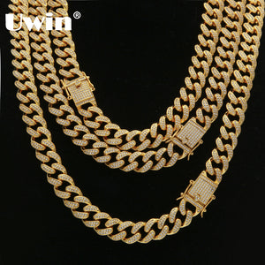 Triple Lock Luxury Necklace 14mm Cuban Link Chain