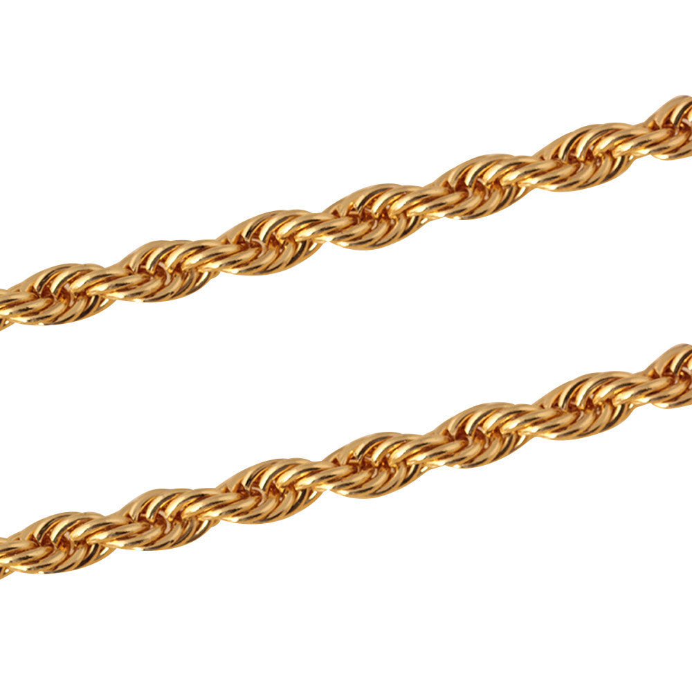 Mens Rope Gold Necklace