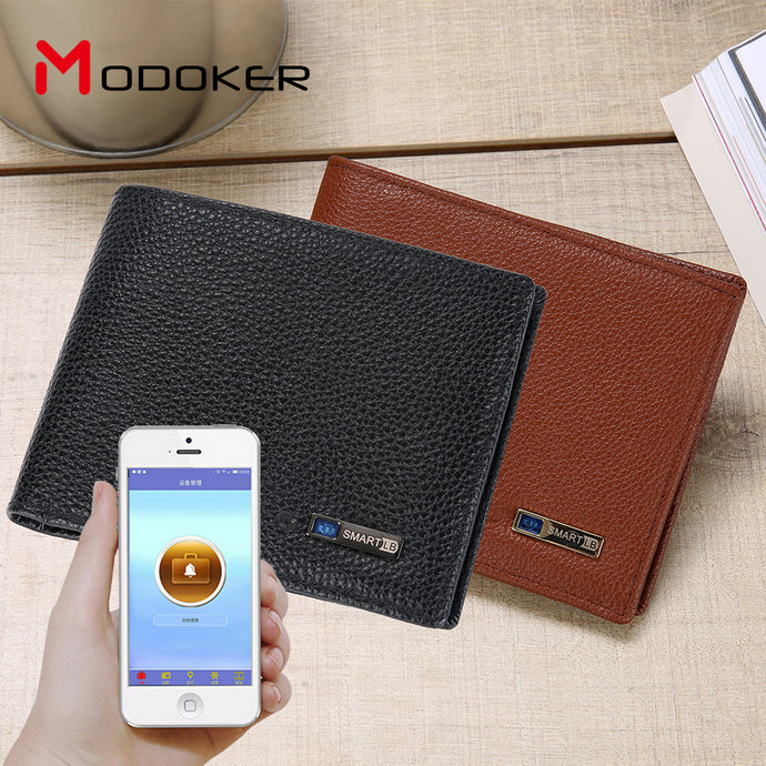 Modoker Smart Genuine Cowhide Wallet with Bluetooth Tracking Anti-lost
