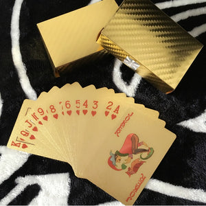 54pcs Original Waterproof Luxury 24K Gold Foil Plated Cards