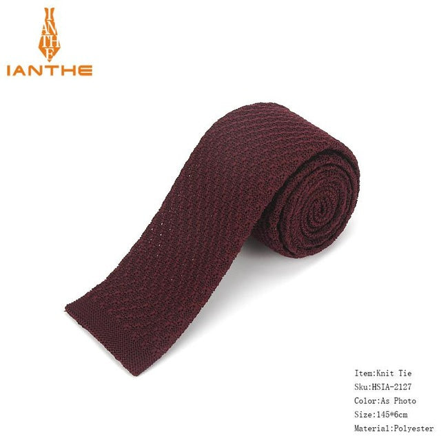 Brand New Fashion Vintage Striped Neck Tie Wedding Knitted