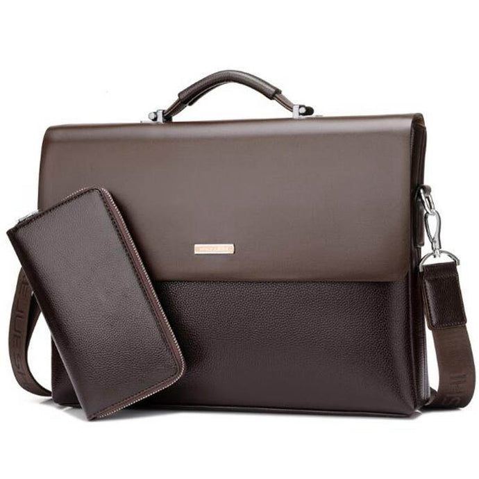 Men Briefcase Handbag  Leather