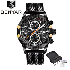 BENYAR Watch Men Quartz Chronograph Watch