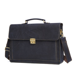 "OXLEAZ Male 15.6"" Men's Leather Briefcases"