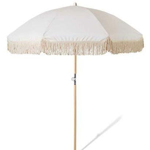 Natural Fringe Beach Umbrella