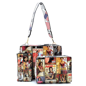 Magazine Purse Cover Set 3 pcs