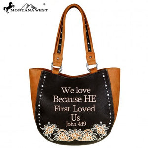 BIBLE VERSE EMBROIDED PURSE